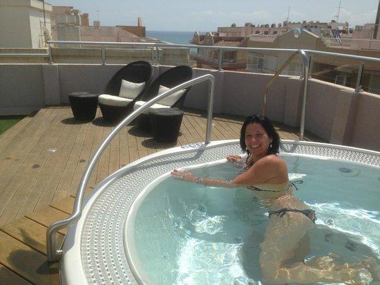 Eden Mar: solarium y spa en la terraza del hotel