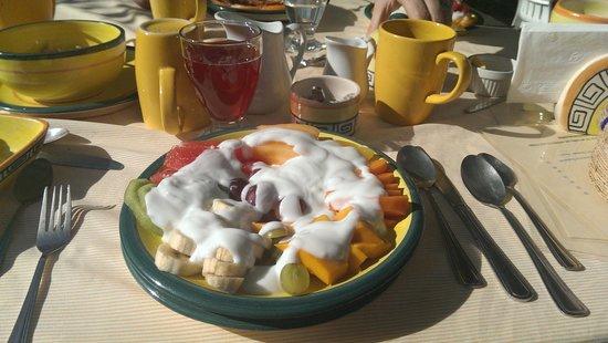 Rio Bec Dreams: fruit platter for breakfast