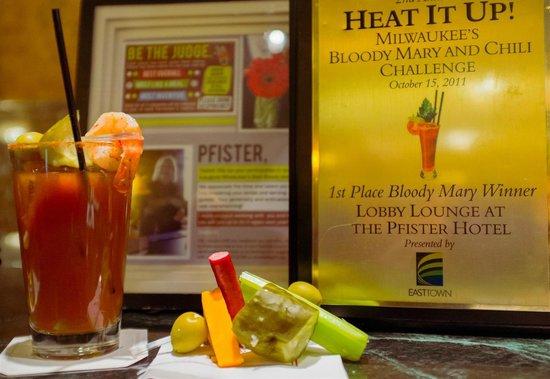 The Pfister Hotel: Award winning Bloody Mary.