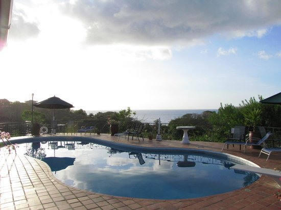 Top O' Tobago Villa & Cabanas: Pool looking out to Arnos Vale Bay