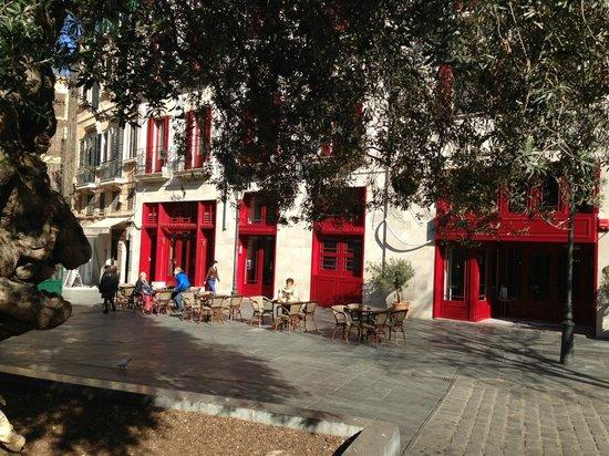 Hotel Cort : Frühstück auf dem Placa de Cort