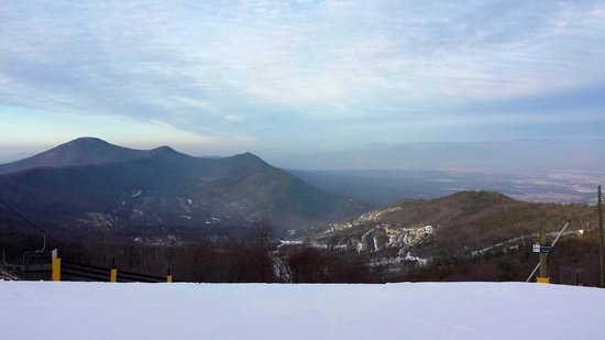 Massanutten Resort: View from the top of the ski slope