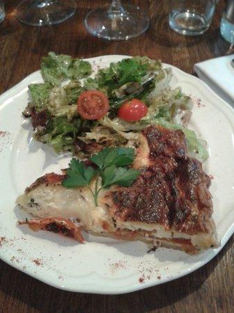 Bistrot du Père Tranquille : tarte tomates mozarella