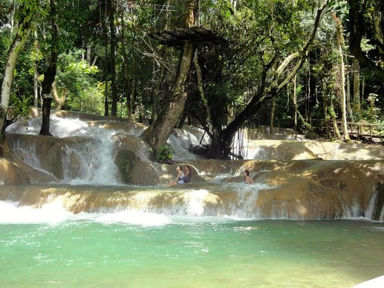 Tad Sae Waterfall: The falls