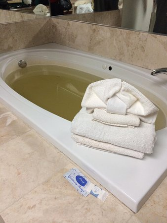 Empire Inn : Disgusting jacuzzi, spewed out brown water