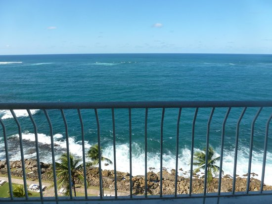 The Condado Plaza Hilton: view from 6th floor oceanfront tower