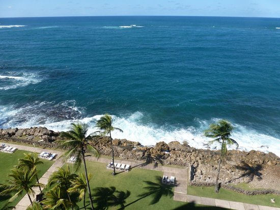 The Condado Plaza Hilton: view of water from 6th floor oceanfront