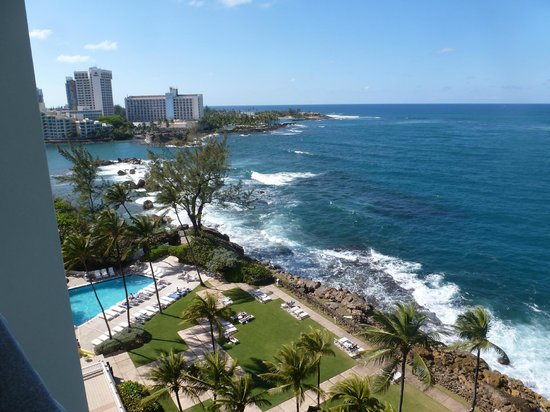 The Condado Plaza Hilton: view from 6th floor oceanfront
