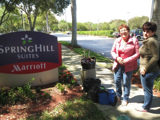 SpringHill Suites Boca Raton: In front of Marriott Hotel