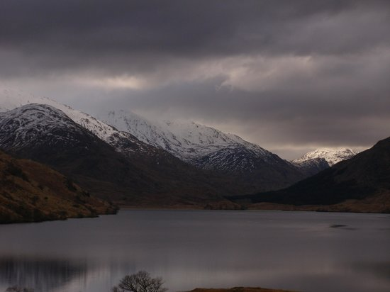 Ardechive by Loch Arkaig: Mountains at the end of the loch