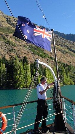Real Journeys - TSS Earnslaw Vintage Steamship Cruises: Approaching Walter Peak