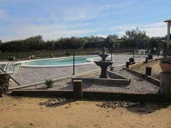 Can Gual: piscina y zona de relax con sauna
