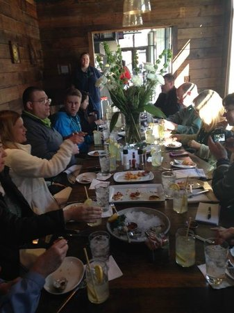 Omaha Culinary Tours: Seafood sampler on one of the stops on the Old Market Walking Food Tour