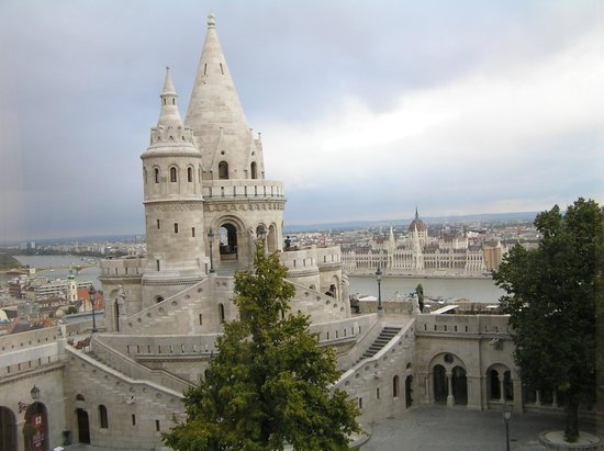 Hilton Budapest: The view out our window