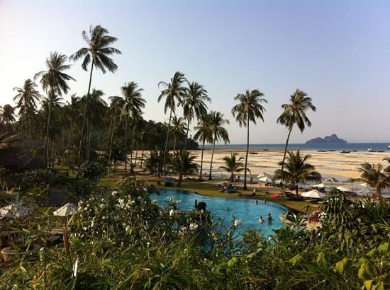Phi Phi Island Village Beach Resort : Poolanlage bei Ebbe