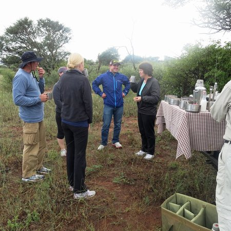 Madikwe Safari Lodge: Outdoor breakfast