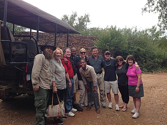 Madikwe Safari Lodge : Our group and staff at Madikwe