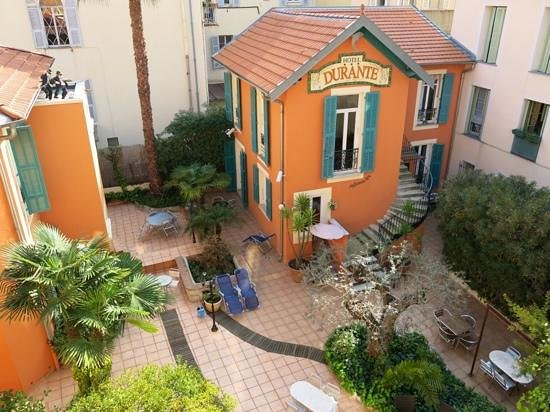 Hotel Durante: hotel garden, view from room