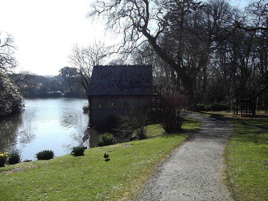 Clowance Estate: Lake and boathouse