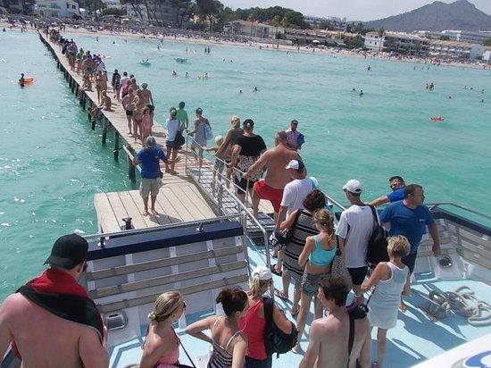 Grupotel Amapola: Retour croisière : ponton Playa de Muro.