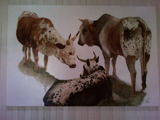Fordoun Spa Hotel Restaurant: Cattle painting