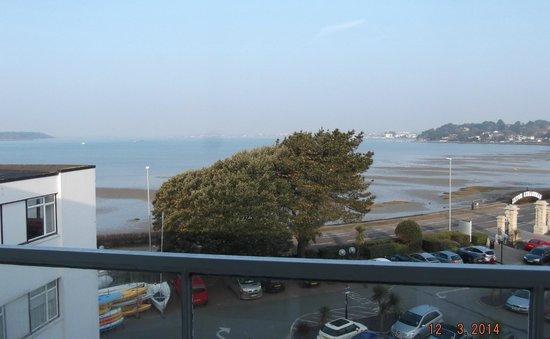 Sandbanks Hotel: View from balcony.