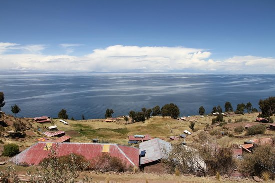 Libertador Lake Titicaca: view from island Uros