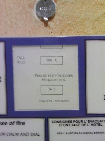 Hyatt Regency Paris Étoile: Le prix de la chambre