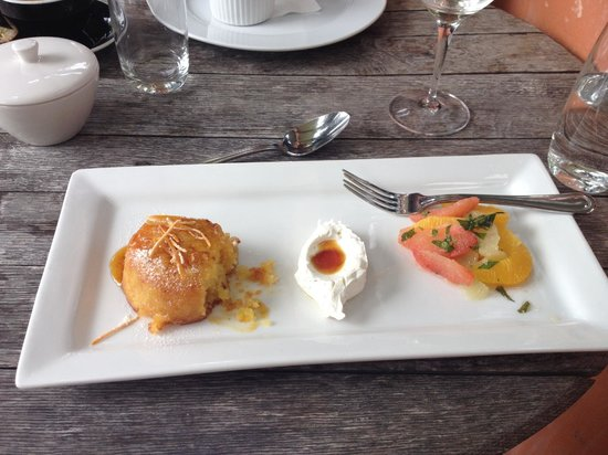 Pegasus Bay Winery Restaurant : orange cake