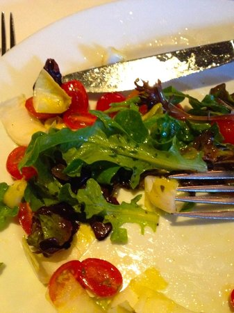 Snake River Grill: Simple salad with greens, endive, and grape tomatoes with a lovely light vinaigrette