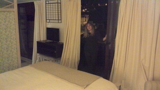 Isla Baja Suites: me posing in the terrace door