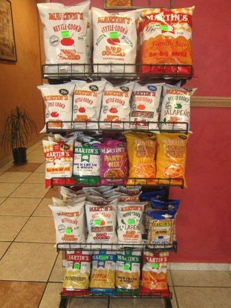 Napoli Pizza: Variety of Martin's Chip Products Available....$0.99 to $2.50 per bag