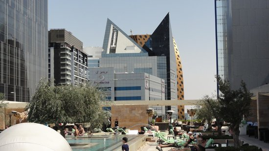 Aloft Abu Dhabi: Pool view and beyond