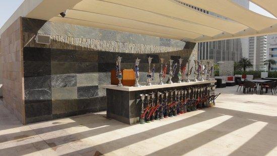 Aloft Abu Dhabi: Mai Cafe's Shisha Bar (Poolside)