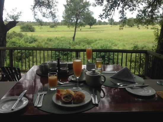 Sabi Sabi Selati Camp: view from our breakfast table