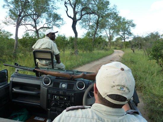 Sabi Sabi Selati Camp : Zeb (tracker) & Craig (guide)