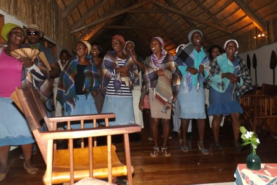 Leroo La Tau: Staff performance of Botswana wedding celebration for us
