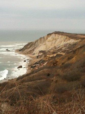 Gay Head Light  (Aquinnah Light): view of the cliffs