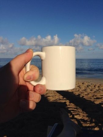 Cottages By The Sea: Made coffee...went to beach