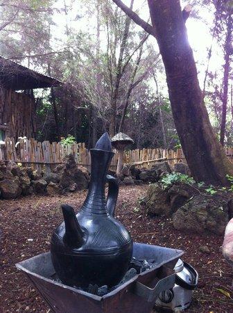 Salayish Lodge and Park: Coffee every morning