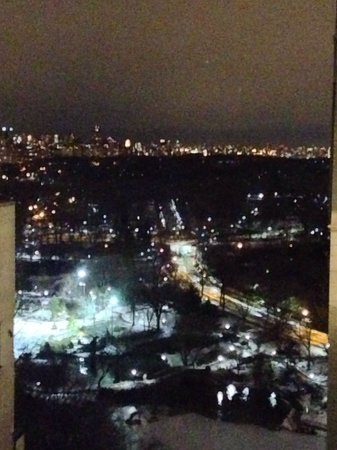 The Plaza: Nighttime view from Edwardian Suite.