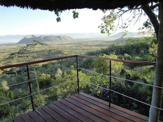 The Sleeping Warrior Lodge: View from balcony of our lodge