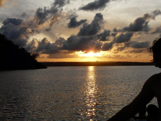 Distant Relatives Ecolodge & Backpackers : Sunset over Kilifi Creek very close by