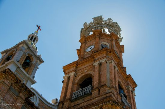 La Iglesia de Nuestra Senora de Guadalupe: Exterior view of towers