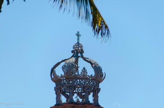 La Iglesia de Nuestra Senora de Guadalupe: The top of the main tower