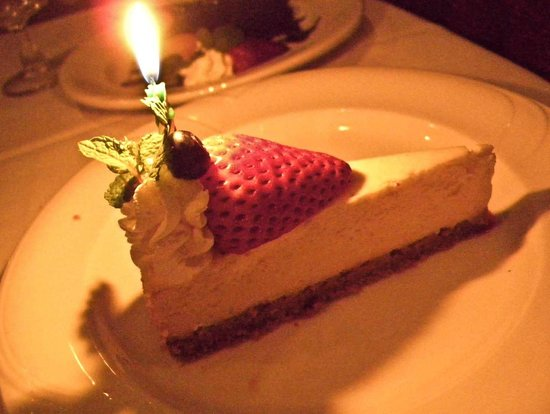 Hy's Steak House - Waikiki: Birthday dessert