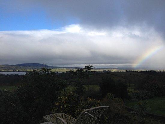 Cromleach Lodge Country House Hotel: Rainbow over Lough Arrow