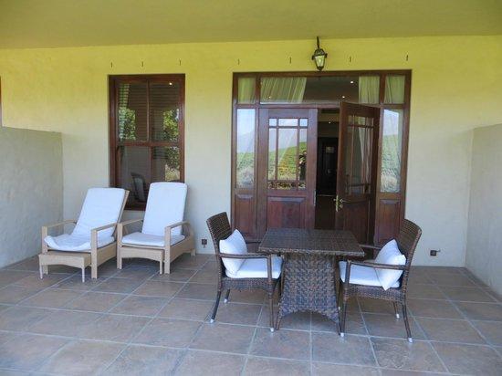 Asara Wine Estate & Hotel: Our patio