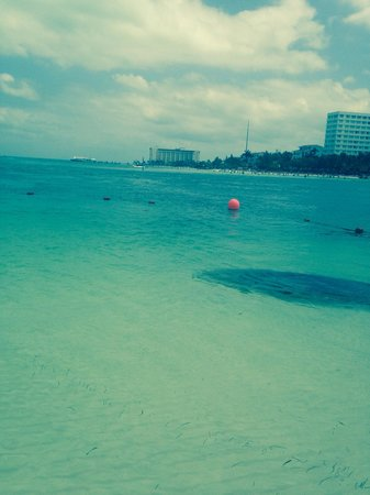 Occidental Costa Cancun: The view from the beach