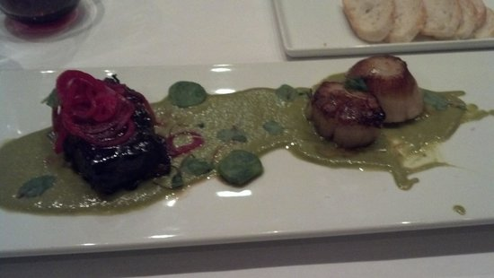 Mexique : Pork belly and scallops